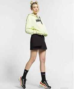Nike Sportswear Tech Pack Skirt AR2948-080 Women's Medium- Dark Brown and Volt