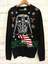 Men's Star Wars Darth Vader Ugly Christmas Crew Neck Sweater Black size S