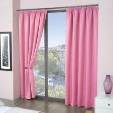 Cortinas y visillos baño de poliéster de color principal rosa