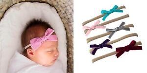 velvet cross bow Headbands Girls' Elastic nylon Headband Accessories