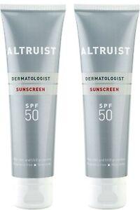 2X ALTRUIST Dermatologist Sunscreen SPF 50|Superior 5-star UVA protection 100ml