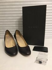 Authentic Gucci Scar Pelle s cuoio nappa lux Womens sz 38 brown heels