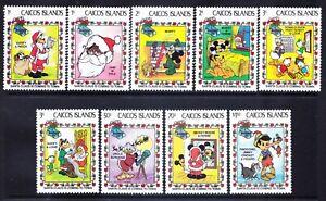 CAICOS IS 1983 SG30/MS39 set of 9+ mini-sheet Disney Christmas u/m. Cat £15.75