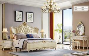 Diseño Dormitorio 5 Piezas Set Completo Cama Mesa de Noche Tocador Mueble Nuevo