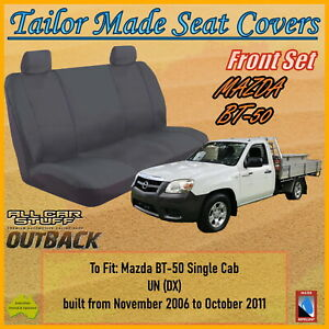 Canvas Seat Covers for Mazda BT50 (BT-50) Single Cab UN (DX): 11/2006 to 10/2011