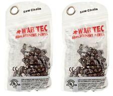 "WAR TEC 14"" Chainsaw Saw Chain Pack Of 2 Fits BOSCH AKE35/17S AKE35-18S AKE35S"