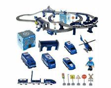 Kinder Spielzeug Polizei Autorennbahn Eisenbahn Lok Batteriebetrieben 92 Teile