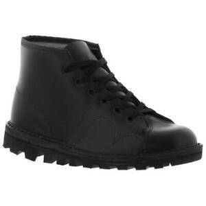 Grafters Original 60s Monkey Boots Mens Womens Black Shoes Size UK 4-12