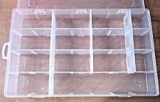 Portable Small Parts Organizer 14 Compartment Clear Plastic Storage Box