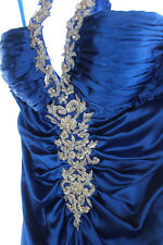 NWT Clarisse Gorgeous Royal Blue Embroidered Satin Formal Gown Prom Dress 4 1357
