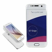 Galaxy S7 Edge Ultra Thin Soft Front & Back Silicone TPU Case Cover Shockproof