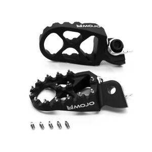 MOJO KTM Footpegs Black - Billet Anodized 7075 Aluminum   MOJO-KTM-FPBLK