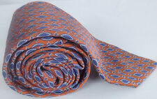 Massimo Bizzocchi Necktie Silk Orange Blue Abstract Italy