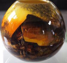 SMF Schramberg Majolika Keramikvase Nr.2 mit Schwarzwaldmotiv