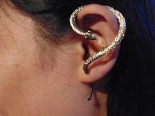Ohrklemme mit Kette Ohrring 925 Sterling Silber Biker Ohrstecker Ear Cuff Neu
