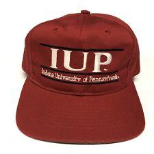 Vintage 90s Indiana University of Pennsylvania Baseball Hat Snapback Cap Red