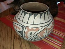 "Lucy Tsosie Jemez Pottery signed vessel Native Pueblo redware 6 ""high opening 4"""