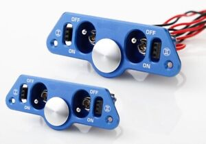 6 STAR ALUMINUM DUAL POWER SWITCH WITH FUEL DOT AND DUAL CHARGE PORTS