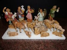 Vintage Italy Nativity Set 17 Pc. Lot 5� Scale used condition Fontanini
