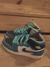 Air Jordan Retro 1 BLUE GREEN IN HAND SZ 7 555088 302 WITH BOX 100% AUTHENTIC