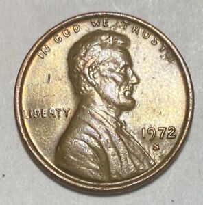 1972 S Lincoln Memorial 1 Cent Repunched Mintmark Error Circulated Coin (3019)