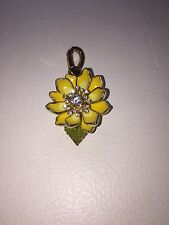 CHARM BRELOQUE JUICY COUTURE Fleur Jaune yellow flower Dorée