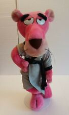 "Pink Panther Plush Doll 14"" The Lover in Robe Vintage 1980 #1795 Mighty Star"