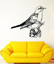Vinyl Wall Decal Songbird Bird On Branch Animal Nature Flowers Stickers (1506ig)