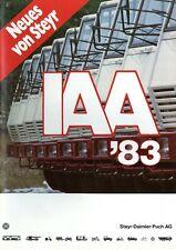 Neues von Steyr IAA 1983 Prospekt LKW truck brochure prospectus broschyr lastbil