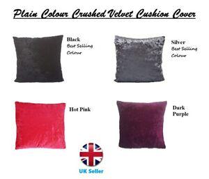 Crushed Velvet Cushion Covers Luxury Plain Dinning Sofa Cushion Covers