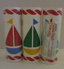 3 Sail Boats Lands End Sail Away Wallpaper Border Coming Home For Kids 1 open
