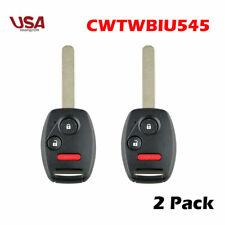 2X For Honda Pilot 2005 2006 2007 2008 Keyless Remote Car Key Fob OE# CWTWB1U545