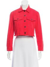 Olivia Adair Tie-Neck Cropped Jacket Bright Red in size 4! NWT $375 Alice