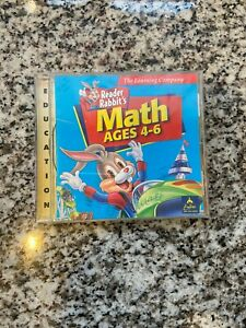 Tested PC/Mac CD-Rom Learning Software - Reader Rabbit's Math - Ages 4-6 Free SH