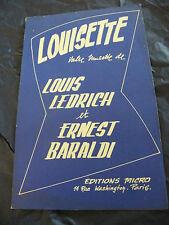 Partition Louisette Ledrich Baraldi Avec Brio 1947 Music Sheet
