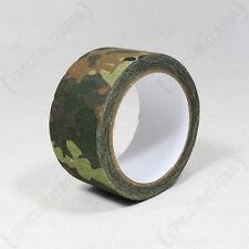 10M ADHESIVE TAPE - FLECKTARN CAMO - Camouflage Wrap Hunting Shooting Airsoft