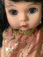 "New ListingGolden Girl 2000 Madame Alexander Doll 8"" no shoes black hair blue eyes"