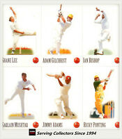 1996-97 Select Cricket Stickers Stand-Up Card Full Set (36 cards)-International