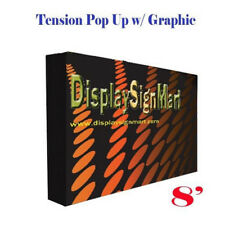 8 Pop Up With Free Printing Tension Fabric Trade Show Display Booth Frame Stand