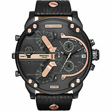 DIESEL DZ7350 Mr. Daddy 2.0 Chronograph Black Dial Black Leather Men's Watch