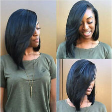 Straight Black Front Wigs Short Wigs Human Hair Wig Women 1PC NTM