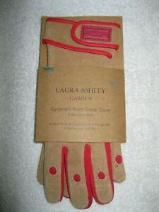 BNWT Laura Ashley Gardener's Avant-Garde Glove in Suede & Spandex ladies medium