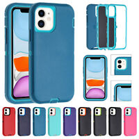 For iPhone 12 Pro Max 11 XS XR 8 7+ SE2 Case Hybrid Heavy Duty Bumper Hard Cover