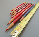 Vintage Eagle Verithin Red Pencils lot of 7 / 1 blue, 1 General, 1 unknown brand