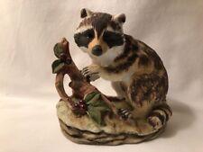 Lefton China Hand Painted Raccoon Figurine (marked Kw4752 China) Hand Painted