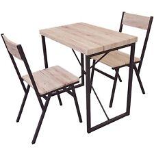 TABLE RESTAURANT BAR APPOINT + 2 CHAISES INDUSTRIEL BOIS METAL DESSERTE LOFT 619
