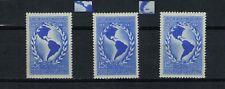 (1940). GJ.839 Panamerican Union. Normal + varieties. MNH. Excellent condition.