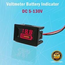 5-130V LED battery indicator voltmeter monitor level meter gauge lamp indicator