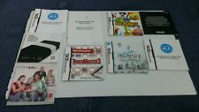 Bundle of Nintendo DS MANUALS & booklets ONLY (no games) FREE P&P