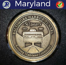 Baltimore Harbor Tunnel Maryland 50th Anniversary Coaster-Transportation History